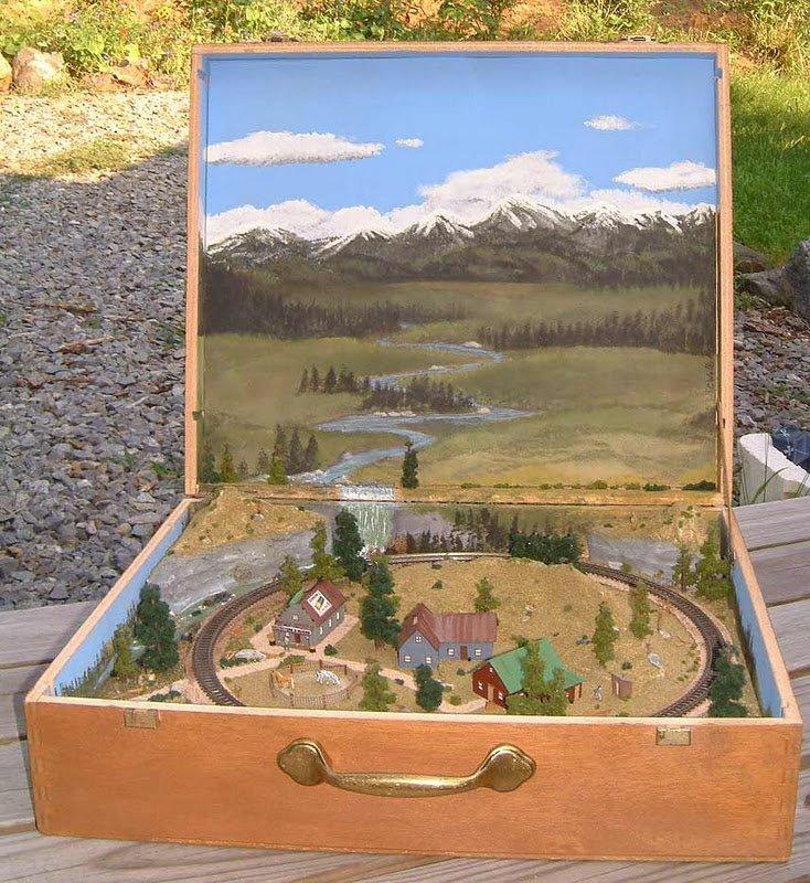 Clever Train Trail Suitcase Diorama