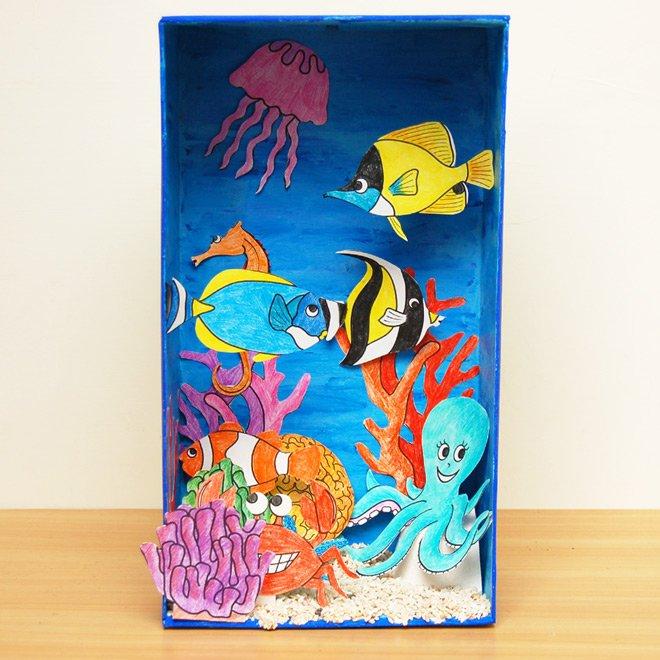 Colorful Coral Reef Habitat Diorama