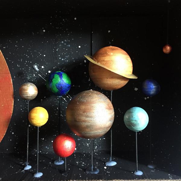 Creative Solar System Diorama Project