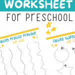 Cutting Worksheet Printable For Kids Scissor Fine Motor Skills-Lines-Preschool Paper Practice