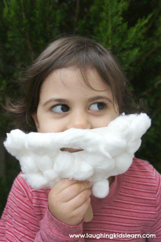 Soft Cottony Santa Beard Mask