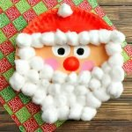 Fluffy Santa Paper Plate Idea