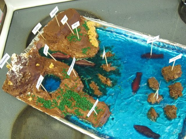 Edible Land Forms Diorama