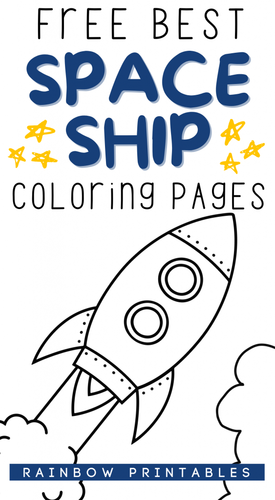 Free Best Space Ship Coloring Pages Rocketship Outerspace For Kids Toddlers Coloring Sheet Drawing Art Activities