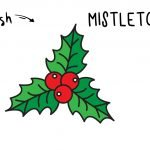 How To Draw an Easy Holiday Mistletoe (Christmas Drawing Guide for Kids)