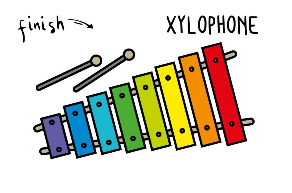 HOW TO DRAW A TOY XYLOPHONE MUSICIAL INSTRUMENT FOR BABIES ILLUSTRATION STEP BY STEP EASY SIMPLE FOR KIDS