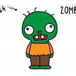 How To Draw a Cute Cartoon Zombie (Inspired by Plant vs Zombie) - Simple and Kid Friendly!