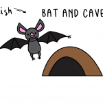 Learn To Draw a Cartoon Flying Bat and Bat Cave (Easy Tutorial for Kids)