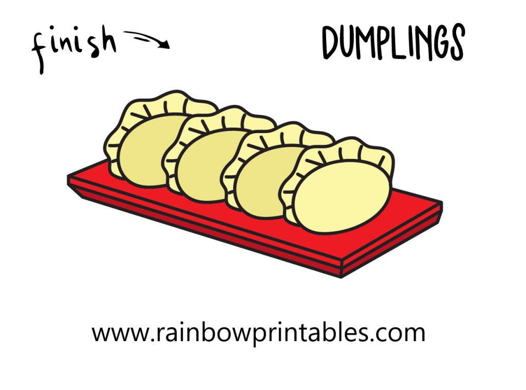 HOW TO DRAW DUMPLINGS Pierogi FOOD POTSTICKERS CHINESE ASIAN RUSSIAN ILLUSTRATION STEP BY STEP EASY SIMPLE FOR KIDS Final