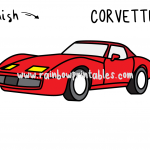 How To Draw a Corvette (Classic Car) - Easy and Simple for Small Children