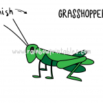 How To Draw a Grasshopper (Insect) - Easy Drawing Guide for Kids