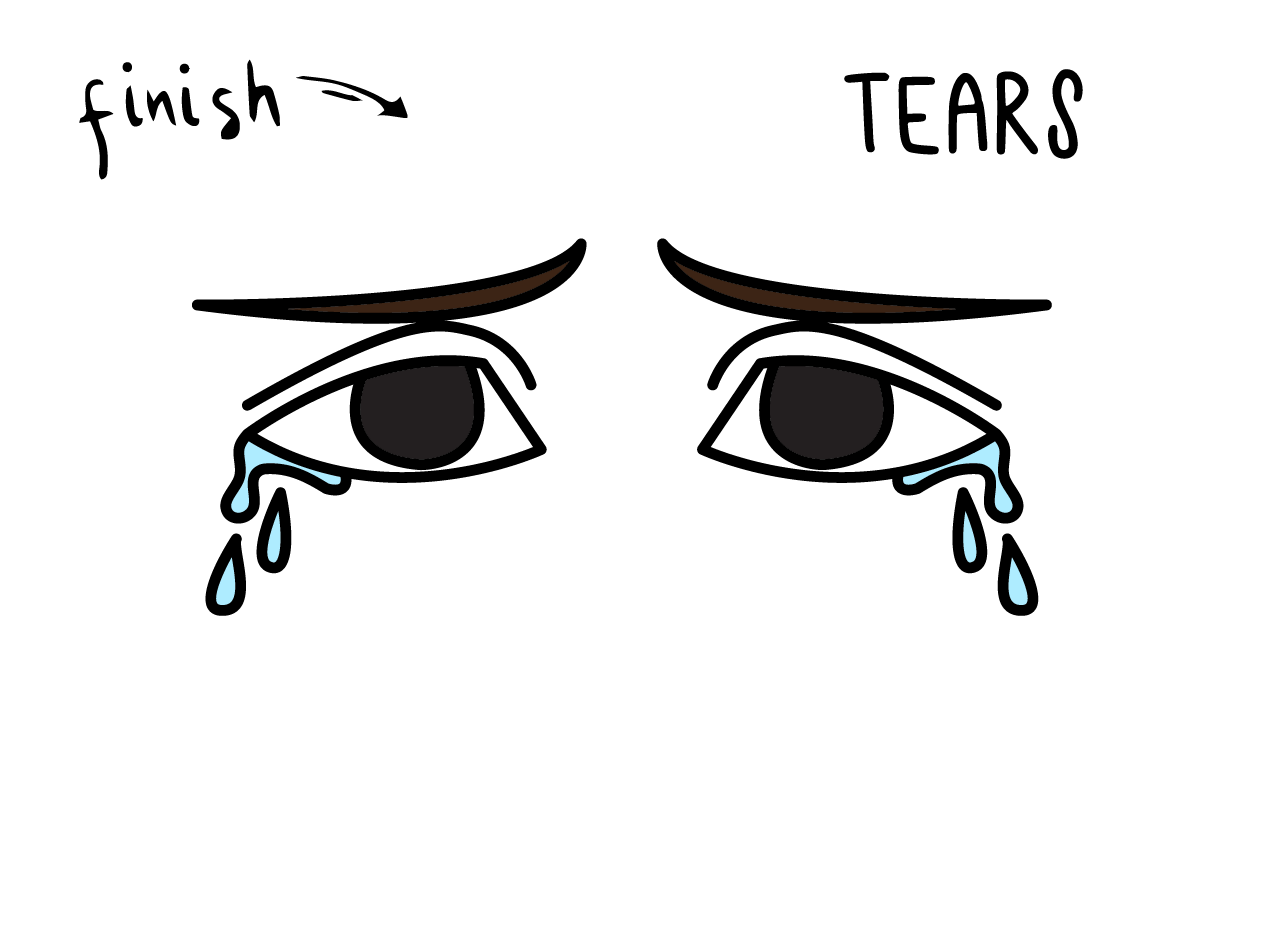 How To Draw a Crying Face (Tears) – Step By Step Easy Art Tutorial for Children