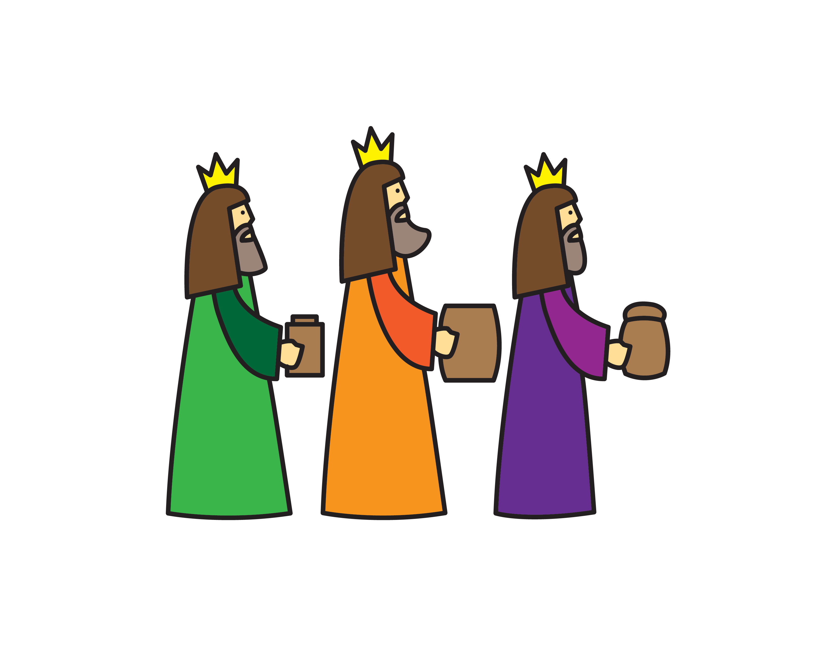 How To Draw 3 WISE MEN CHRISTIAN BIBLE By Step For Kids Easy Illustration Doodle Drawing GUID