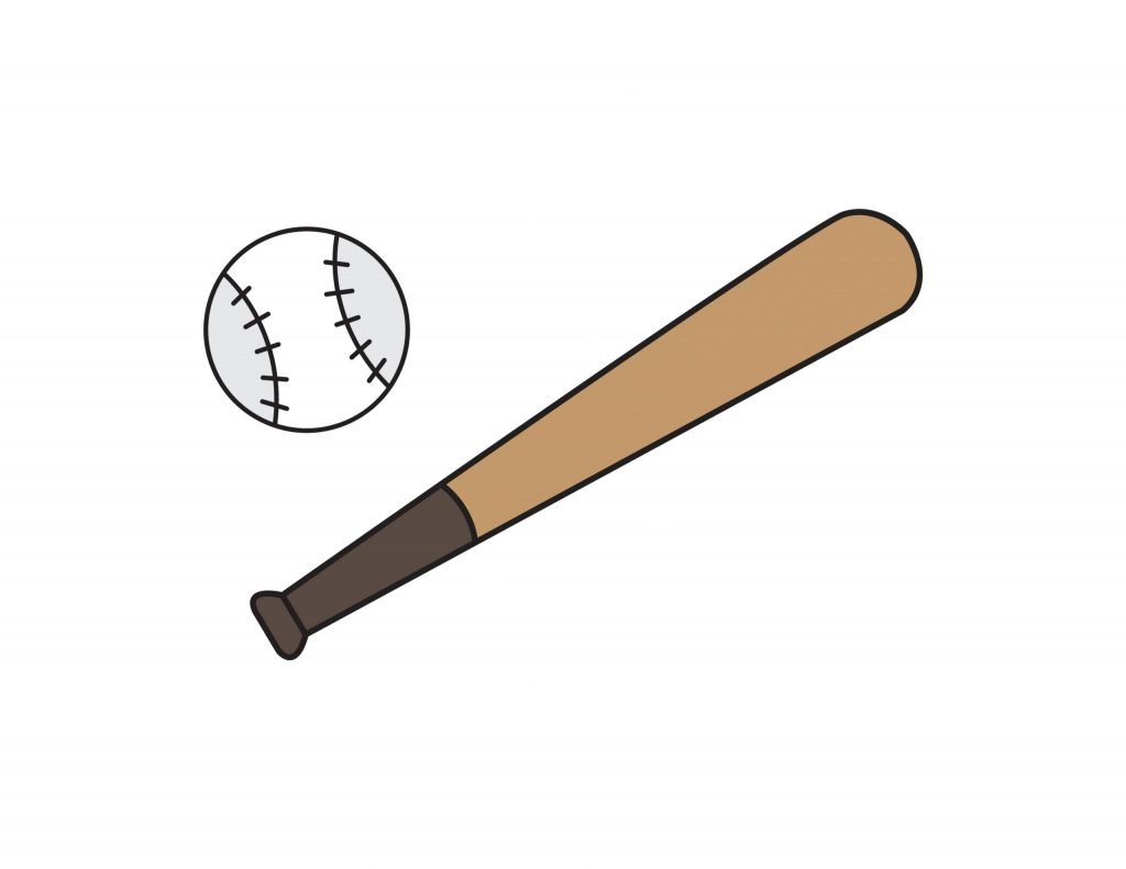 How To Draw BASEBALL BAT Step By Step For Kids Easy Illustration Doodle Drawing GUIDE