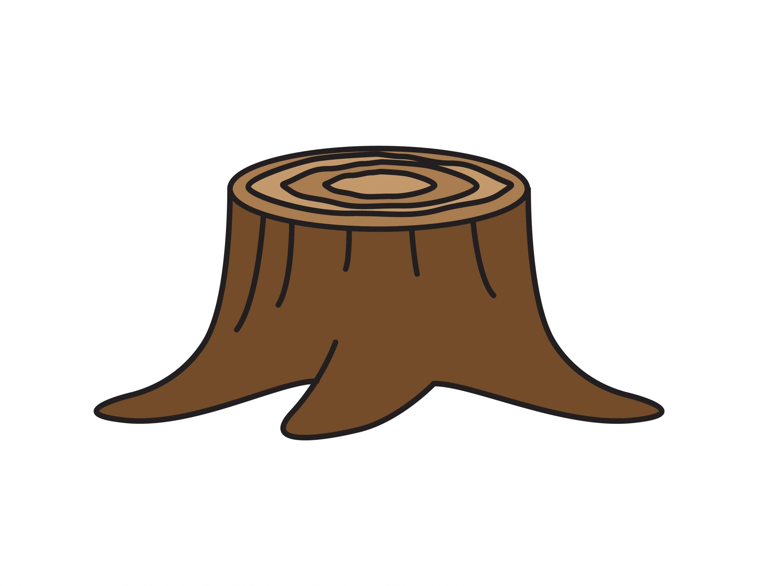 How To Draw a Tree Stump (Easy Step By Step for Kids)