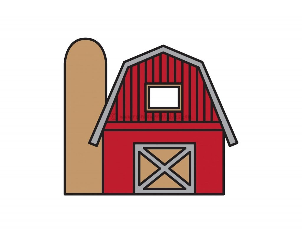 How To Draw RED BARN FARM Step By Step For Kids Easy Illustration Doodle Drawing GUIDE
