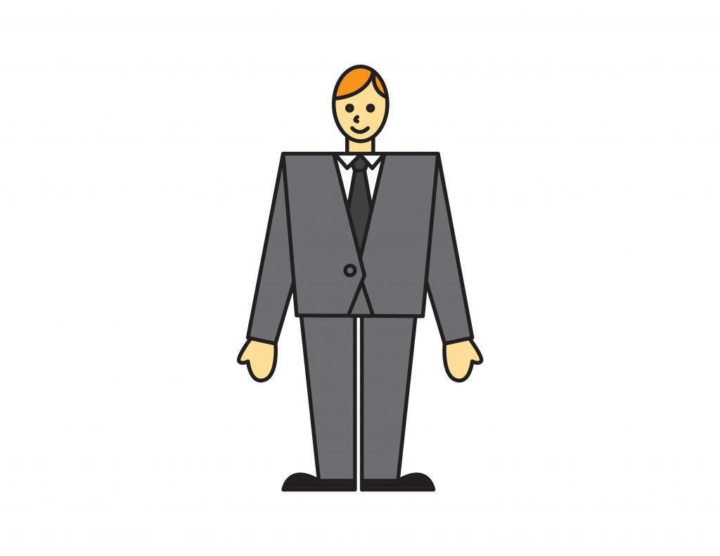 How To Draw TIE AND SUIT MAN BUSINESS By Step For Kids Easy Illustration Doodle Drawing GUIDE