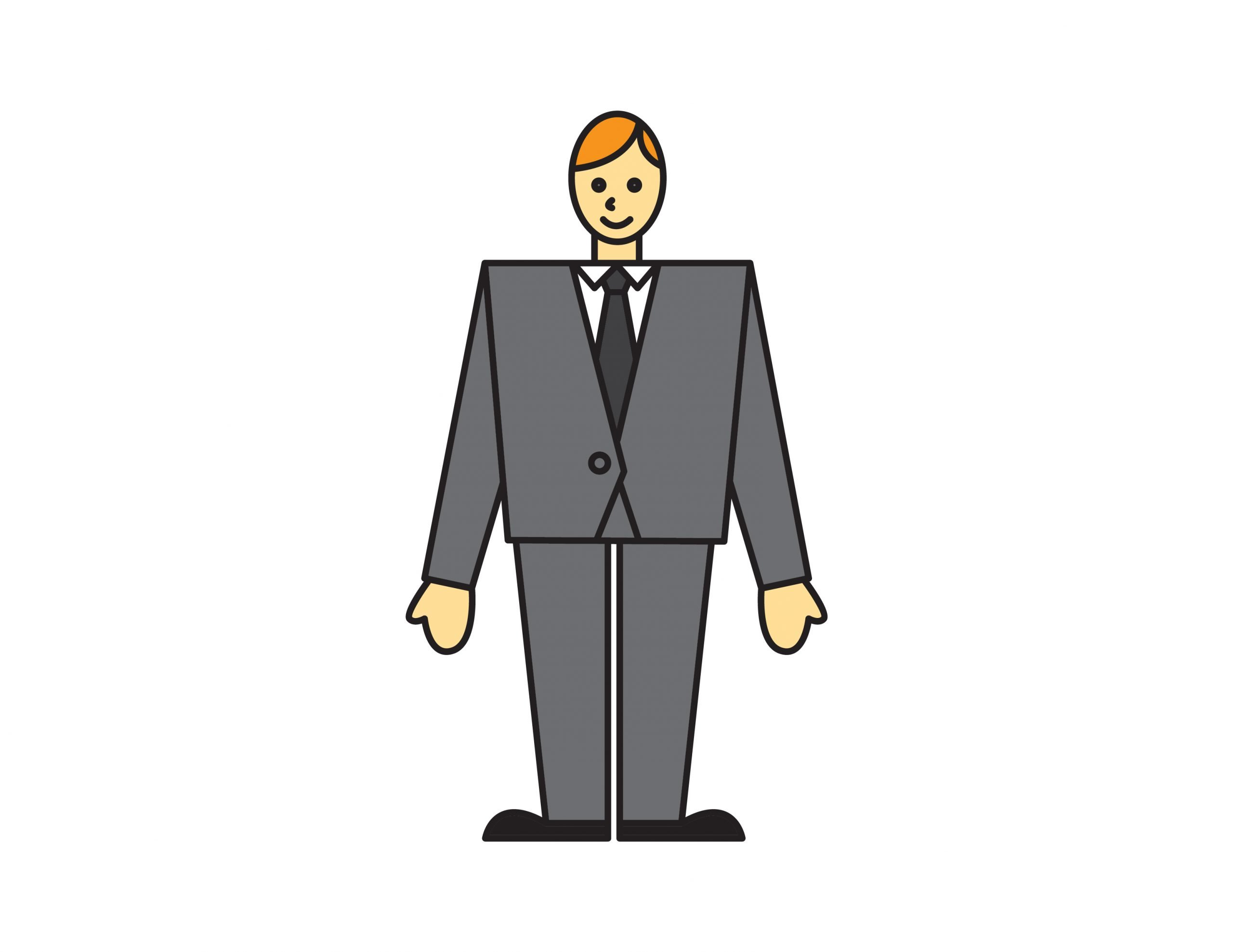How To Draw Business Suit & Tie for Kids – Step By Step EASY Doodle Tutorial For Little Kids
