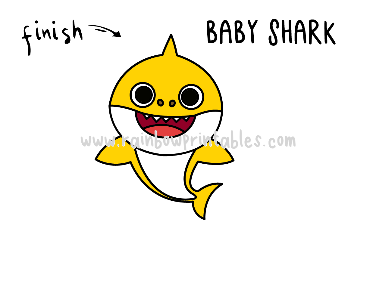 How To Draw Tutorials For Kids BABY SHARK ANIMAL Step by step for kids easy simple guide FINAL
