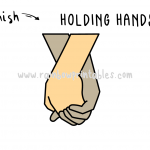 How To Draw: Holding Hands - Easy, Simple Line Drawing Art Tutorial For Kids