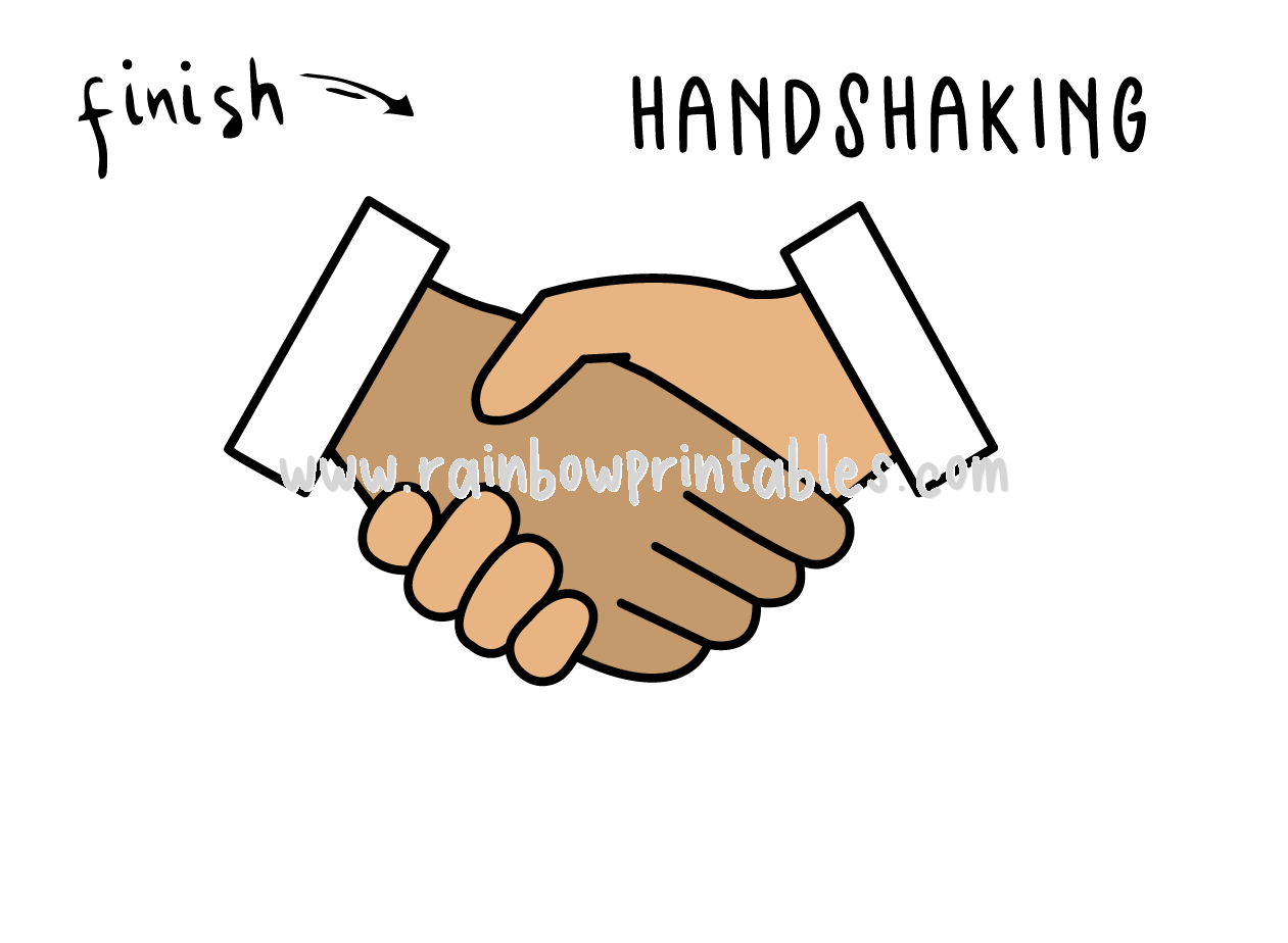 How To Draw Tutorials For Kids SHAKING HANDS BUSINESS GESTURE Step by step for kids easy simple guide FINAL