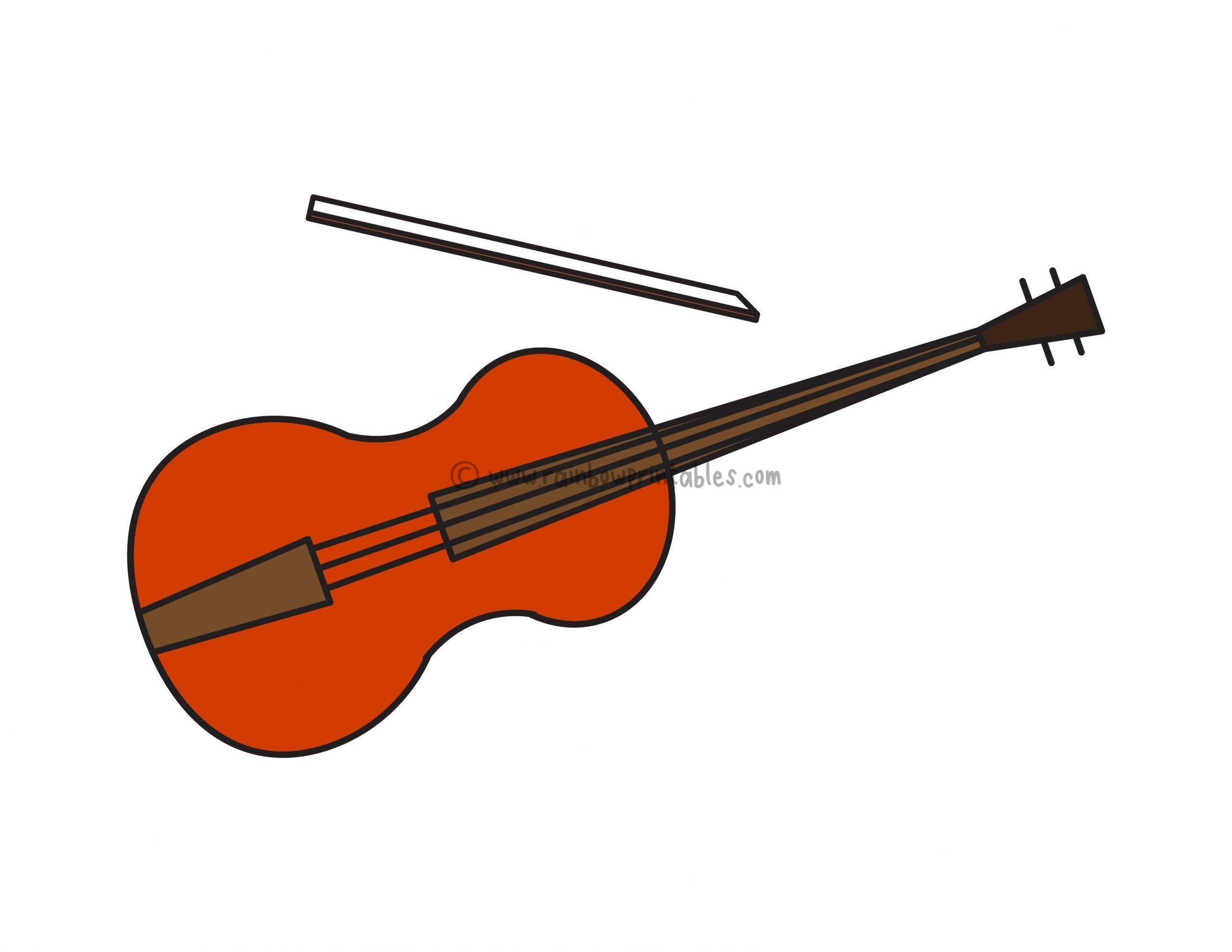 How To Draw a Violin / Fiddle (Musical Instrument) – Easy Peasy For Kids
