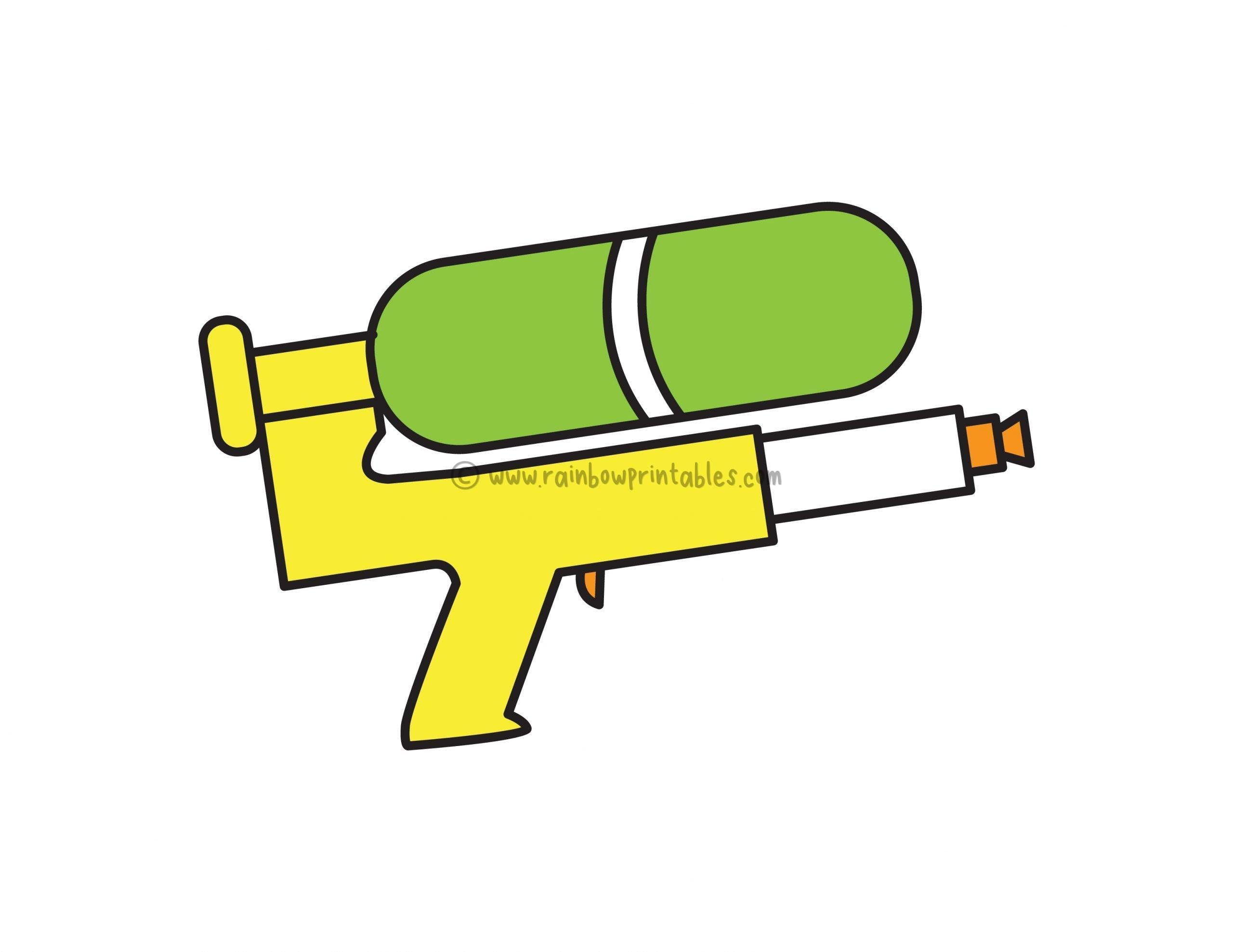 How To Draw a Simple & Easy Water Gun (Super Soaker) for Kids