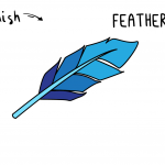 Learn To Draw This Beautiful Bird Feather - Easy Simple Cartoon Illustration Tutorial For Kids