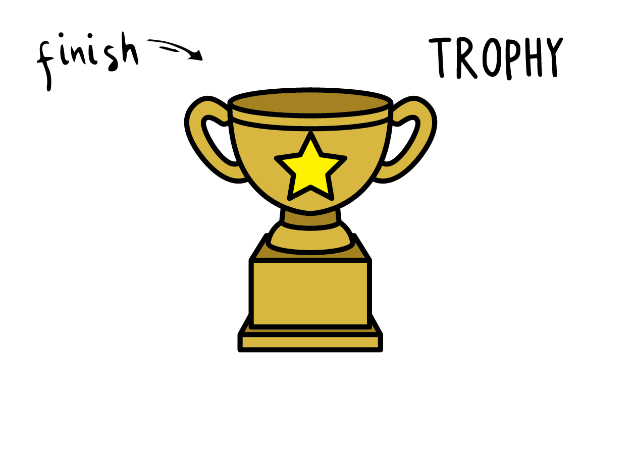 How To Draw an Easy & Simple Gold Trophy For Little Kids (Cartoon Drawing Guide)