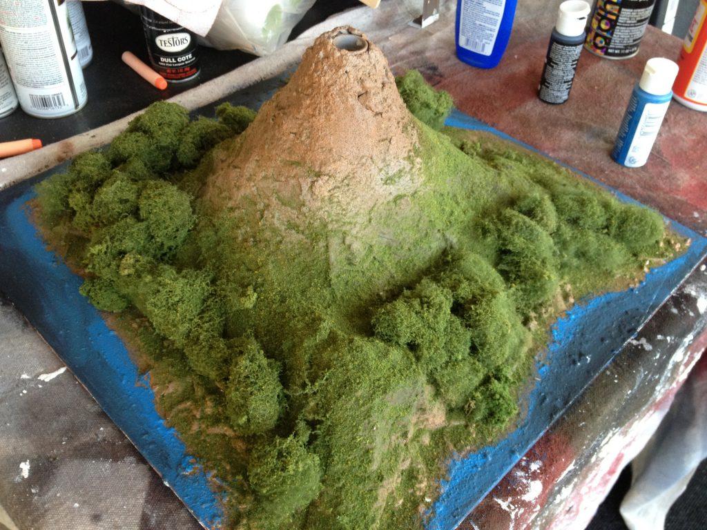 Live Volcanic Eruption Diorama Project