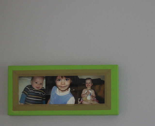 shoebox picture frame