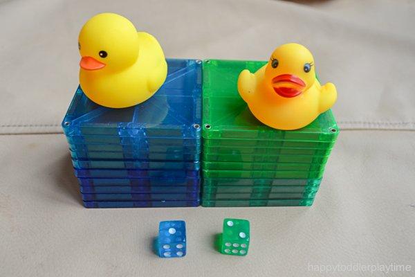 Rubber duck math race game