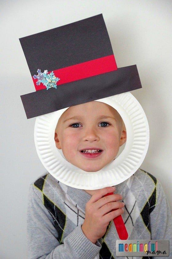 DIY Snowman Christmas Mask