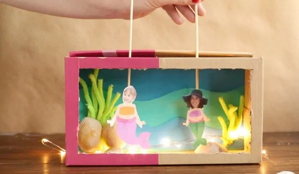 puppet-themed shoebox theater