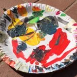 Paper Plate with paints