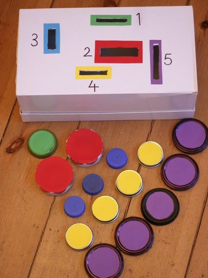 count and sort shoebox for kids