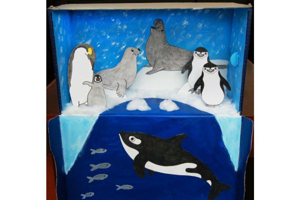 polar shoebox diorama