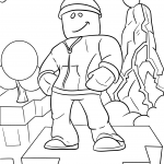 roblox coloring pages for kids video game roblox noob, game, video, robot, template, characters, avatar, drawings, for boys, aesthetic, easy, free, wallpaper, bored