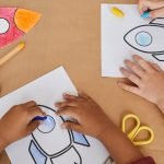 Kids Drawing Rockets in Art and Craft Class