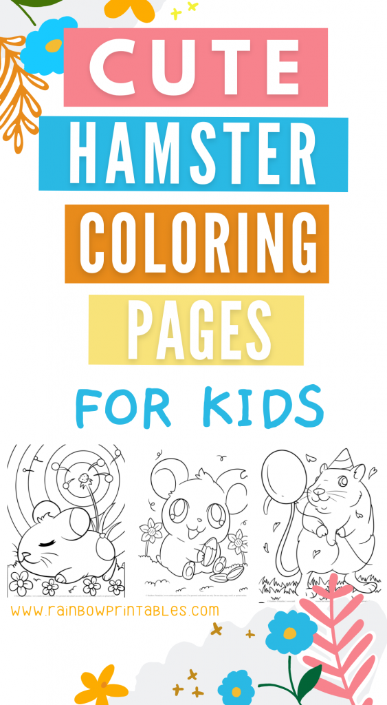 Freebie cute hamster coloring pages free printable for kids guinea pigs hamster cage kids art activity for rainy days indoor