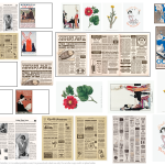 Miniature Doll House Printables Vintage 1850s, 1920s, 1950s Magazine Newspaper Periodicals Wall Paintings Wall Art Decor Template