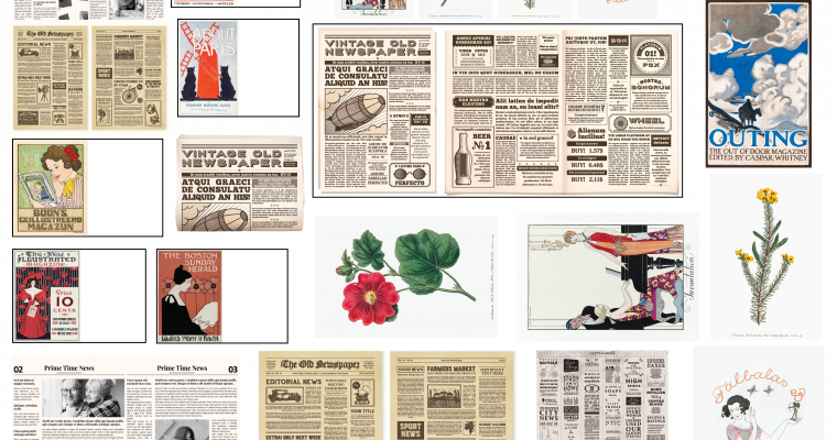 20 Printable Vintage Dollhouse Newspaper Periodicals and Magazines
