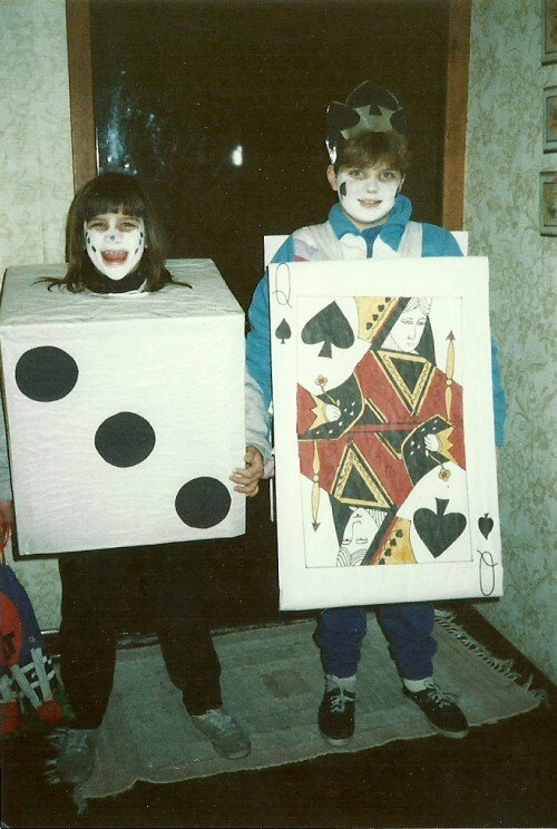 Spooky Rolled Dice and Queen Card Costume