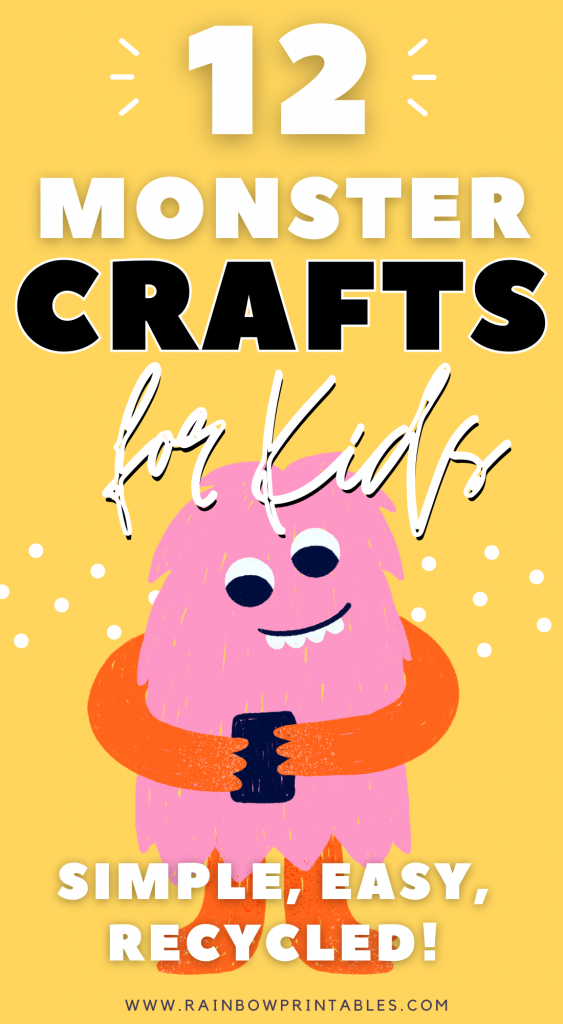 12 Monster-Inspired Art Activities Your Kids Would Love; Craft Printable Ideas, DIY, Project with Kids, Cute, Easy, Tutorial Guide, Recycled, Paint, Preschooler, Pre Kindergarten