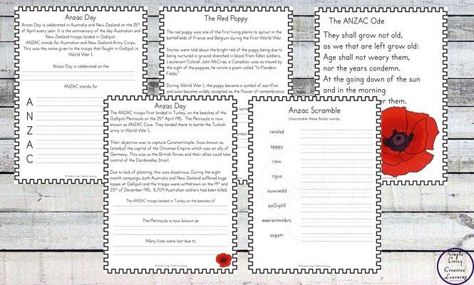 Anzac Printable Files