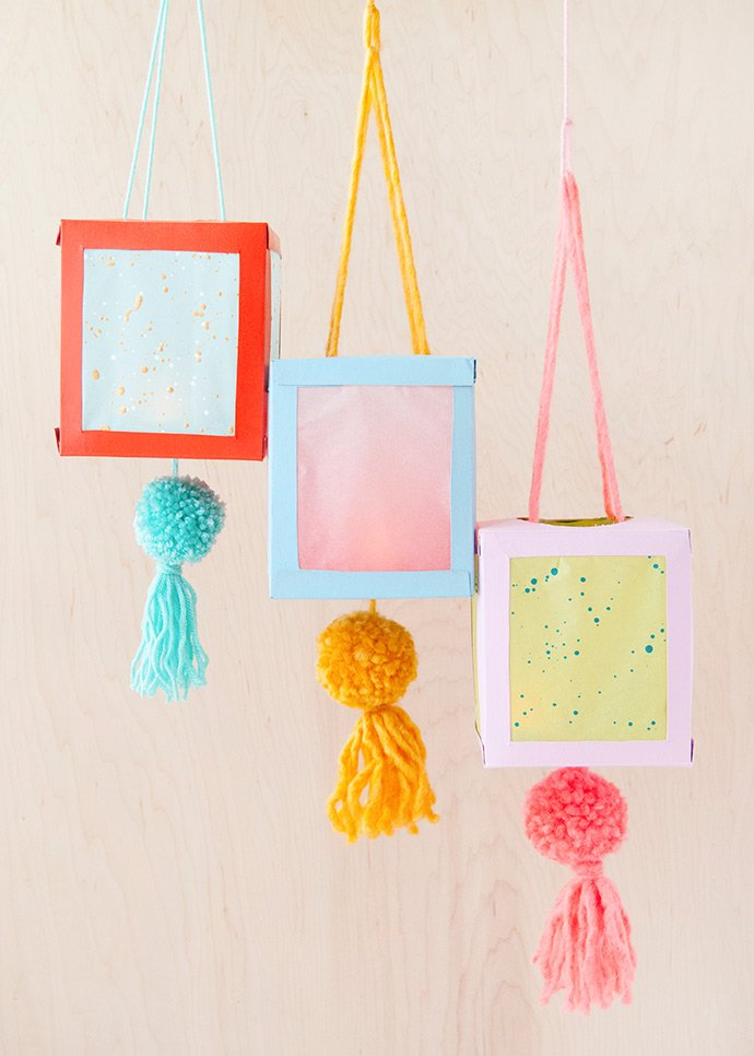 Hanging Tissue Box Lanterns