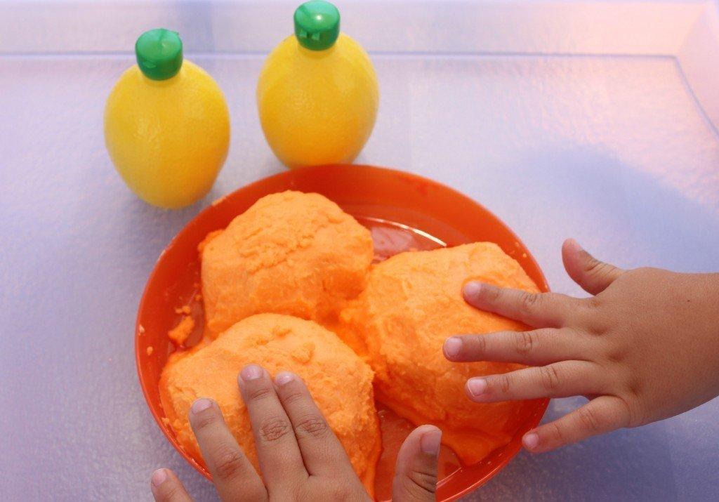 Orange Fizzy Dough
