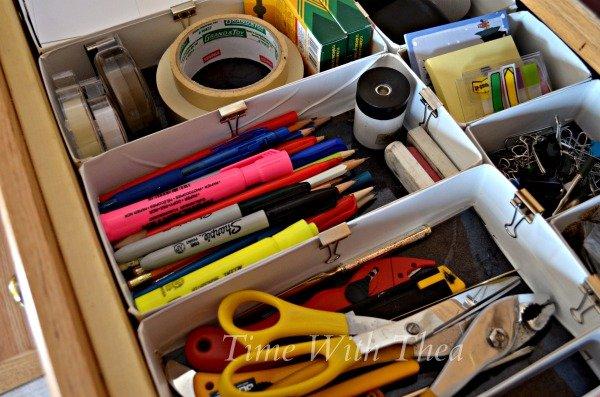 Recycled DIY Drawer Organizer