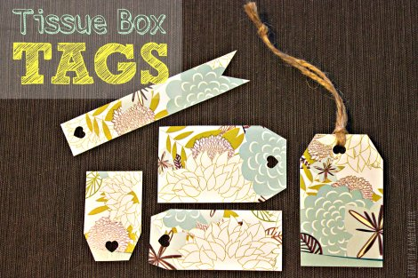 Tissue Box Gifts Tag Cut Outs