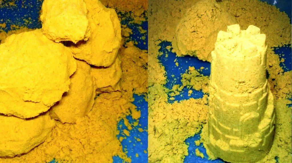 DIY Yellow Moon Sand